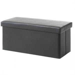 Rosa Ottoman Storage Bench And Blanket Box In Brown Faux Leather