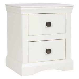 Quebec 2 Drawer Bedside Cabinet In Cream