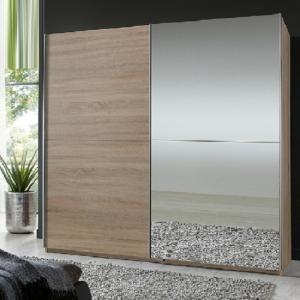 Quest Oak Robe 2 Door Sliding Wardrobe With 1 Mirrored