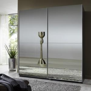 Quest Mirrored Sliding Wardrobe Large In Lava With 2 Doors