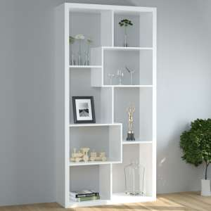 Quinto Modern Shelving Unit In White High Gloss