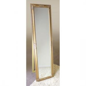Rocco Cheval Floral Gold Frame Freestanding Mirror