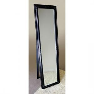 Rocco Cheval Floral Black Frame Freestanding Mirror