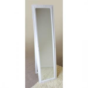 Rocco Cheval Floral White Frame Freestanding Mirror