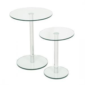 Roma Glass Nest Of Tables in Clear