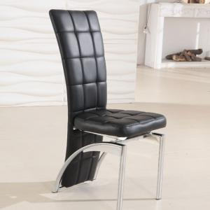 Ravenna Black Faux Leather Dining Room Chair