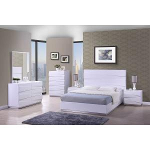 Stirling Bedside Cabinet In White High Gloss With 2 Drawers_2