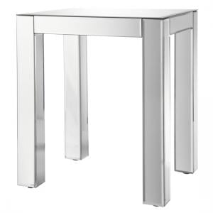 Solitaire Mirrored Side Table