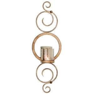 Satine Wall Sconce Candle Holder In Champagne Gold