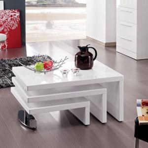 Design Coffee Table Rotating In White High Gloss With 3 Tops_3