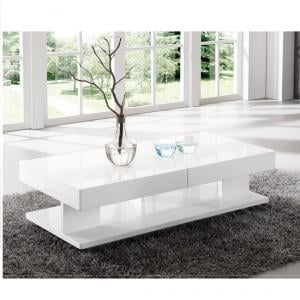 Verona Storage Coffee Table In High Gloss White_3