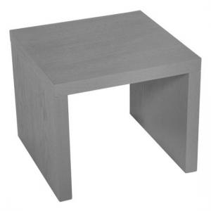 Emulsion Side Table In Veneer Matt Grey