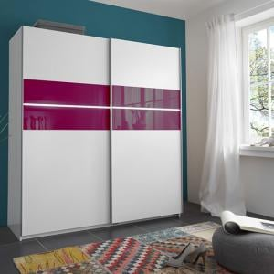 Stylo Sliding Wardrobe In Alpine White With 2 Door And Light