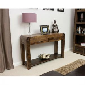 Shiva Walnut Console Table