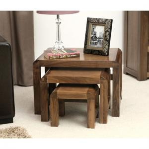 Shiva Walnut Nest of 3 Coffee Tables