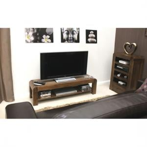 Shiva Walnut Low TV Cabinet