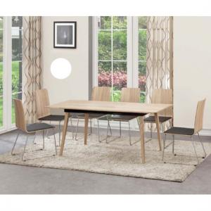 Sienna Extendable Dining Table In Oak With 4 Dining Chairs