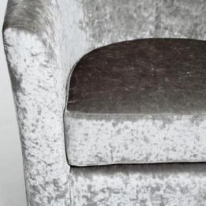 Brisk Tub Chair With Stool In Crushed Velvet Silver_4