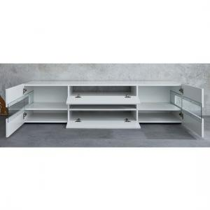 Kirsten TV Stand In White With Gloss Fronts And LED_5