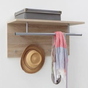 Spot Wall Mounted Coat Rack In Canadian Oak with Shelf