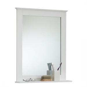 Sweden3 Bathroom Mirror In White With Shelf