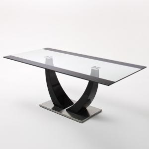 Tavolo Gloss Black Pedestal Dining Table Only