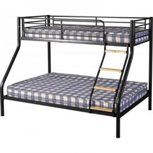 Toby Triple Sleeper Metal Bunk Bed in Black