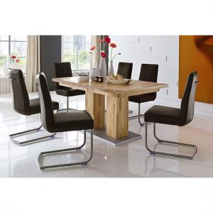 Turin Extendable Dining Table In Core Beech With 6 Flair Chairs