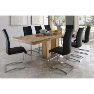 Turin Extendable Dining Table In Core Beech With 10 Arco Chairs