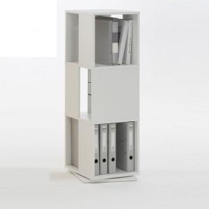 Revolving File Storage Tower In White