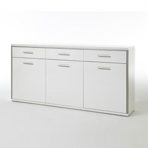 Libya Sideboard In White Gloss Front With 3 Doors And 3 Drawers