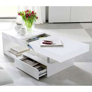 Tuna Storage Coffee Table In High Gloss White