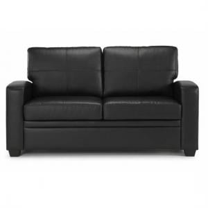 Catalina Modern Sofa Bed In Black Faux Leather_2