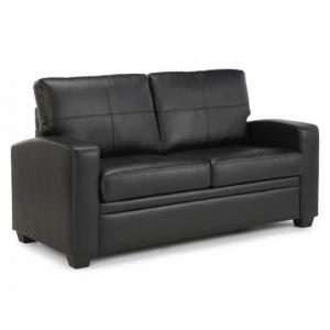 Catalina Modern Sofa Bed In Black Faux Leather_1