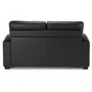 Catalina Modern Sofa Bed In Black Faux Leather_3