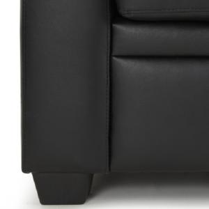 Catalina Modern Sofa Bed In Black Faux Leather_5