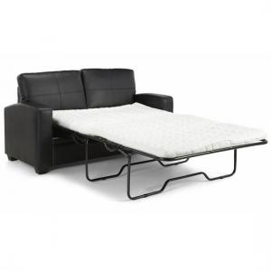 Catalina Modern Sofa Bed In Black Faux Leather_6