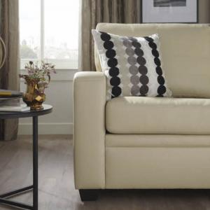Catalina Modern Sofa Bed In Cream Faux Leather_3