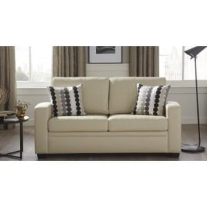 Catalina Modern Sofa Bed In Cream Faux Leather_14