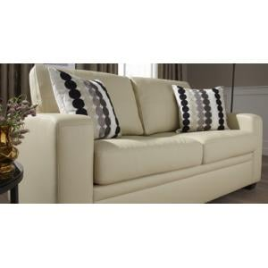 Catalina Modern Sofa Bed In Cream Faux Leather_15