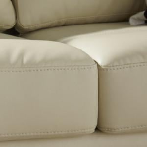 Catalina Modern Sofa Bed In Cream Faux Leather_5