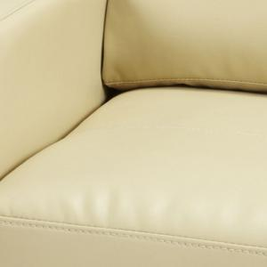 Catalina Modern Sofa Bed In Cream Faux Leather_7