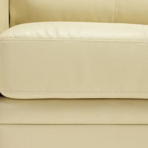 Catalina Modern Sofa Bed In Cream Faux Leather_8