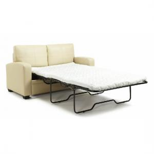 Catalina Modern Sofa Bed In Cream Faux Leather_9