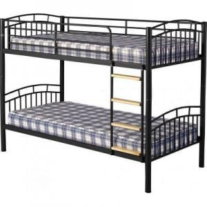 Ventura 3\' Metal Bunk Bed in Black