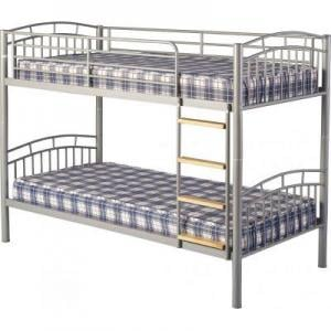 Ventura 3\' Metal Bunk Bed in Silver