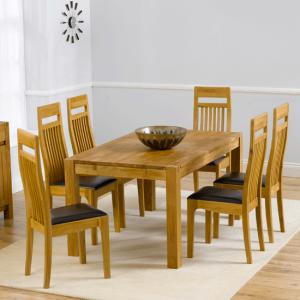 Milan Oak Dining Table And 6 Monte Carlo Dining Chairs