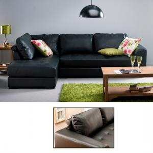 Verona Leather Left Hand Corner Sofa