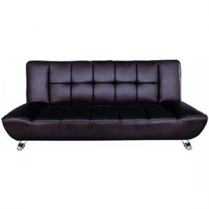 Vanessa Brown Faux Leather Sofa Bed