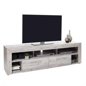 Chapel LCD TV Stand In Sand Oak With 2 Drawers And 5 Compartment